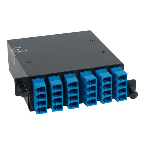 ICFC24SLHG LC-MPO Fiber Optic HD Cassette Blue Multimode Adapters 24 OS1 Fiber