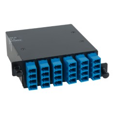 ICFC24SLHG LC-MPO Fiber Optic HD Cassette Blue Multimode Adapters 24 OS1 Fiber