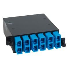 ICFC12SCH9 SC MPO Fiber Optic HD Cassette Blue Multimode Adapters 12 OS1 Fibers