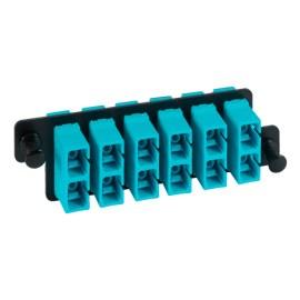 ICFOPC16HG SC SC Fiber Optic HD Adapter Panel Aqua Multimode Adapters 12 10G Fibers