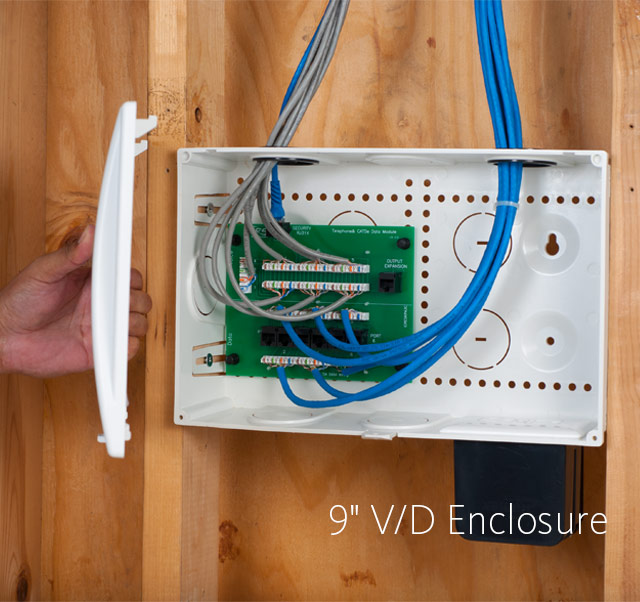 9-inch Voice and Data Residential Wiring Enclosure Combo