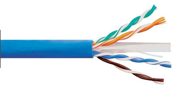 CAT6e 600MHz Blue Riser Bulk Cable
