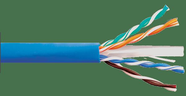 CAT6e 600MHz Blue Riser Bulk Cable