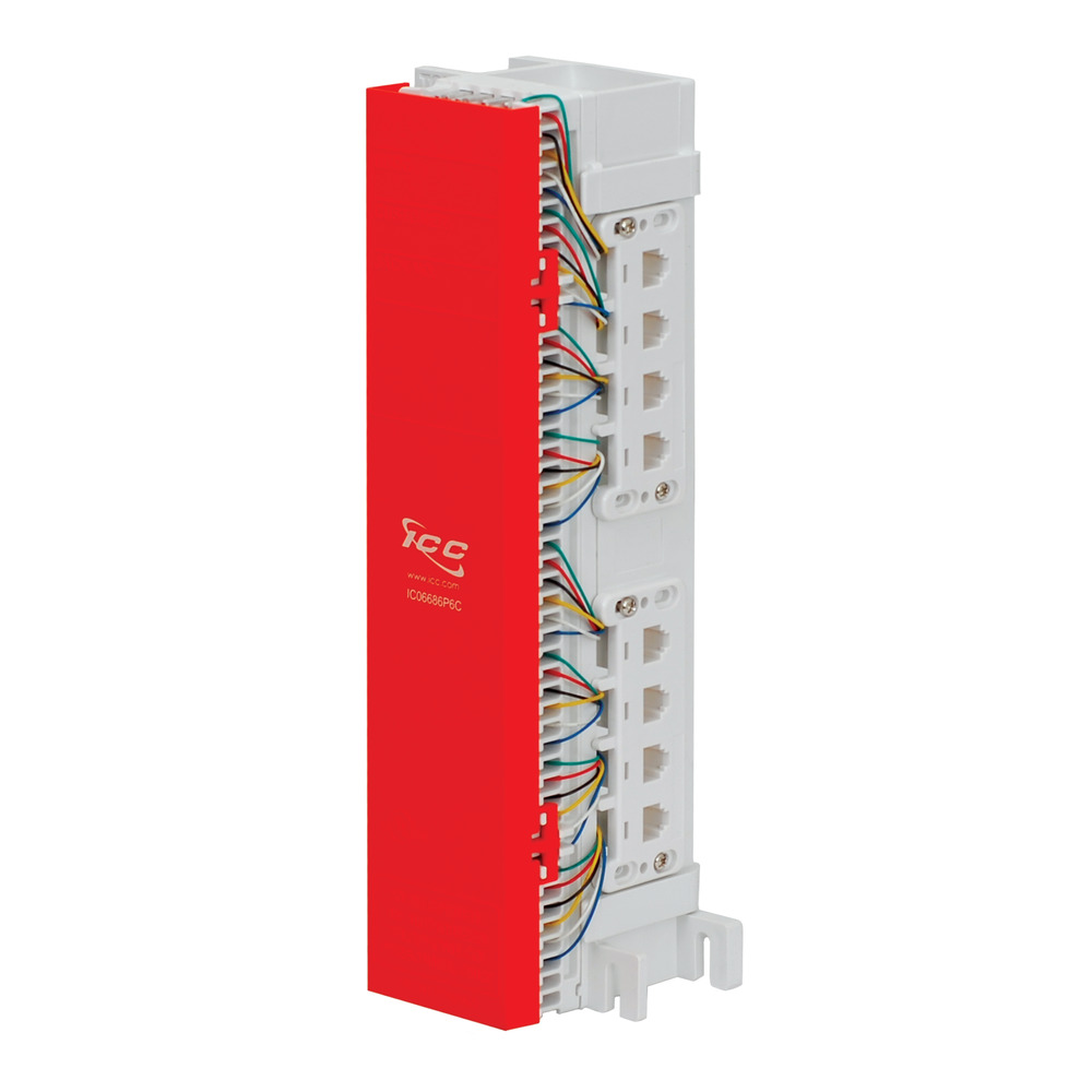 66 Wiring Block Pre-wired with 12 RJ45 8P8C Ports | ICC on 66 block punchdown tool, 66 block cross-connect wire, 66 block color code, 66 block parts, 66 block cable, 66 block connectors, 66 block dimensions, 66 block connections, 66 block accessories, 66 block vs 110 block, 66 block cabling, 66 block installation,