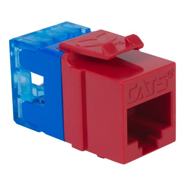 CAT5e RJ45 Red Keystone Jack HD IC1078F5RD
