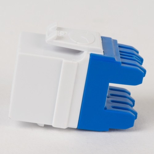 CAT5e RJ45 White Keystone Jack HD Side IC1078F5WH