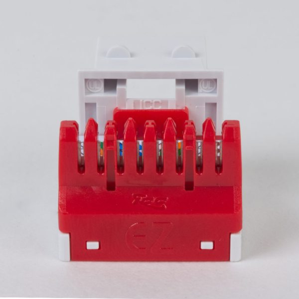 CAT6 RJ45 White Keystone Jack EZ Back IC1078L6WH