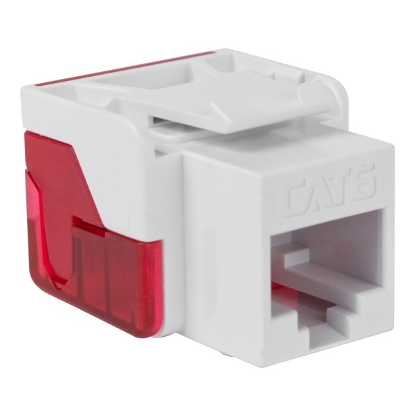 CAT6 RJ45 White Keystone Jack EZ IC1078L6WH