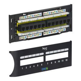 CAT 6 Front Access Patch Panel with 12 Ports and Zero U ICMPP12F6E