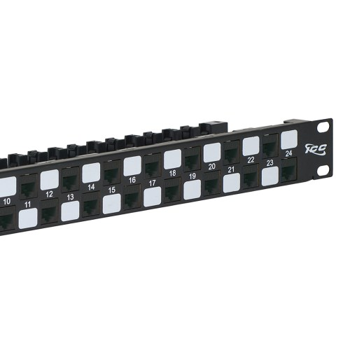CAT6A UTP Patch Panel with 24 Ports and 1 RMS Close Up ICMPP246AU