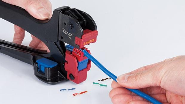 CAT6 Keystone Jack with JackEasy™ termination tool