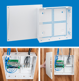 14 inch Plastic Model Residential Media Enclosure for Wireless Networks