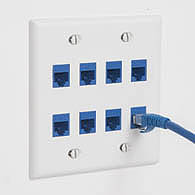 Install CAT6A Keystone connectors in faceplates