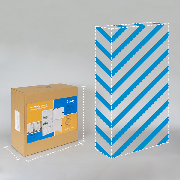 ICC 28 inch plastic enclosure smaller dimensional weight