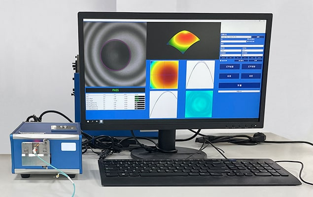 Fiber optic patch cord tested for 3D geometry