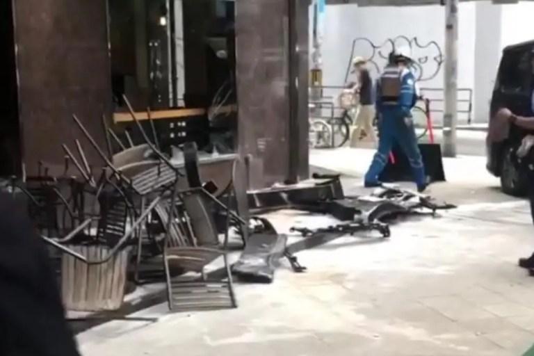 【西区 北堀江】スターバックス四ツ橋店前で事故