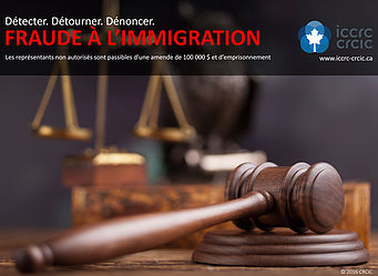 Thumbnail Image of Immigration Fraud poster in French