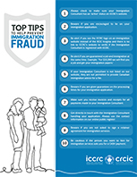 Top Tips to Help Prevent Immigration Fraud one-pager