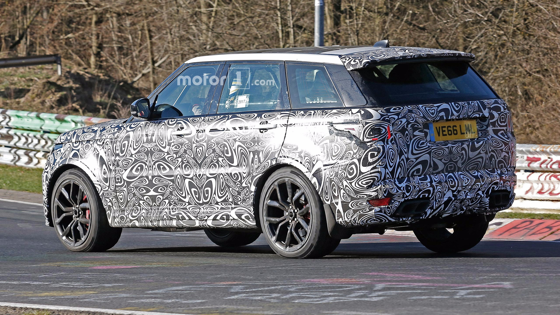 Land Rover Range Rover Sport SVR Spied Lapping the Ring