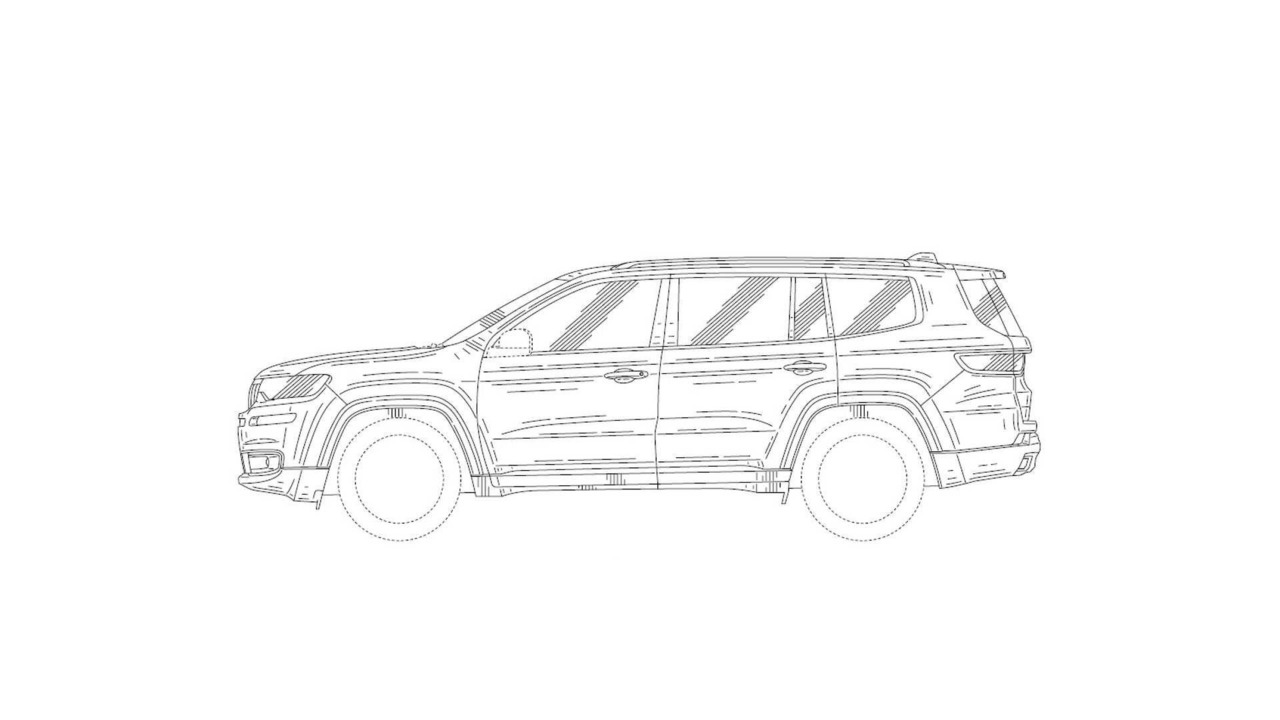 Jeep Patent Drawings Show 7-Seat SUV