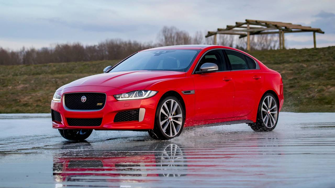 Jaguar Xe 300 Sport Edition Duels Ice Skater On Frozen Track