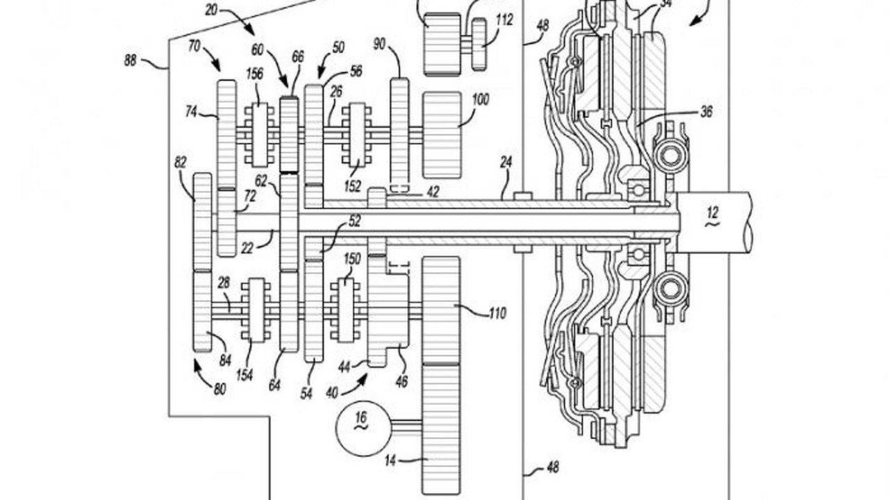 GM files a patent for a seven-speed dual-clutch transmission