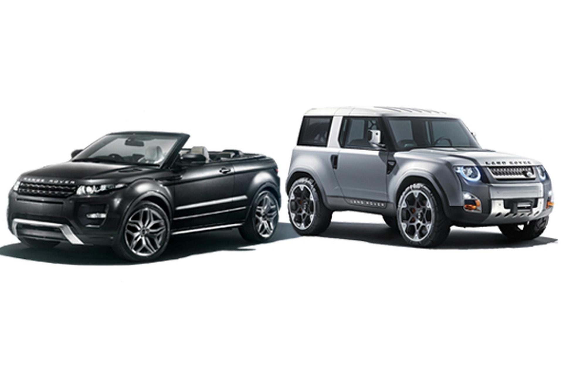 Future Rides Land Rover Evoque Convertible and DC100