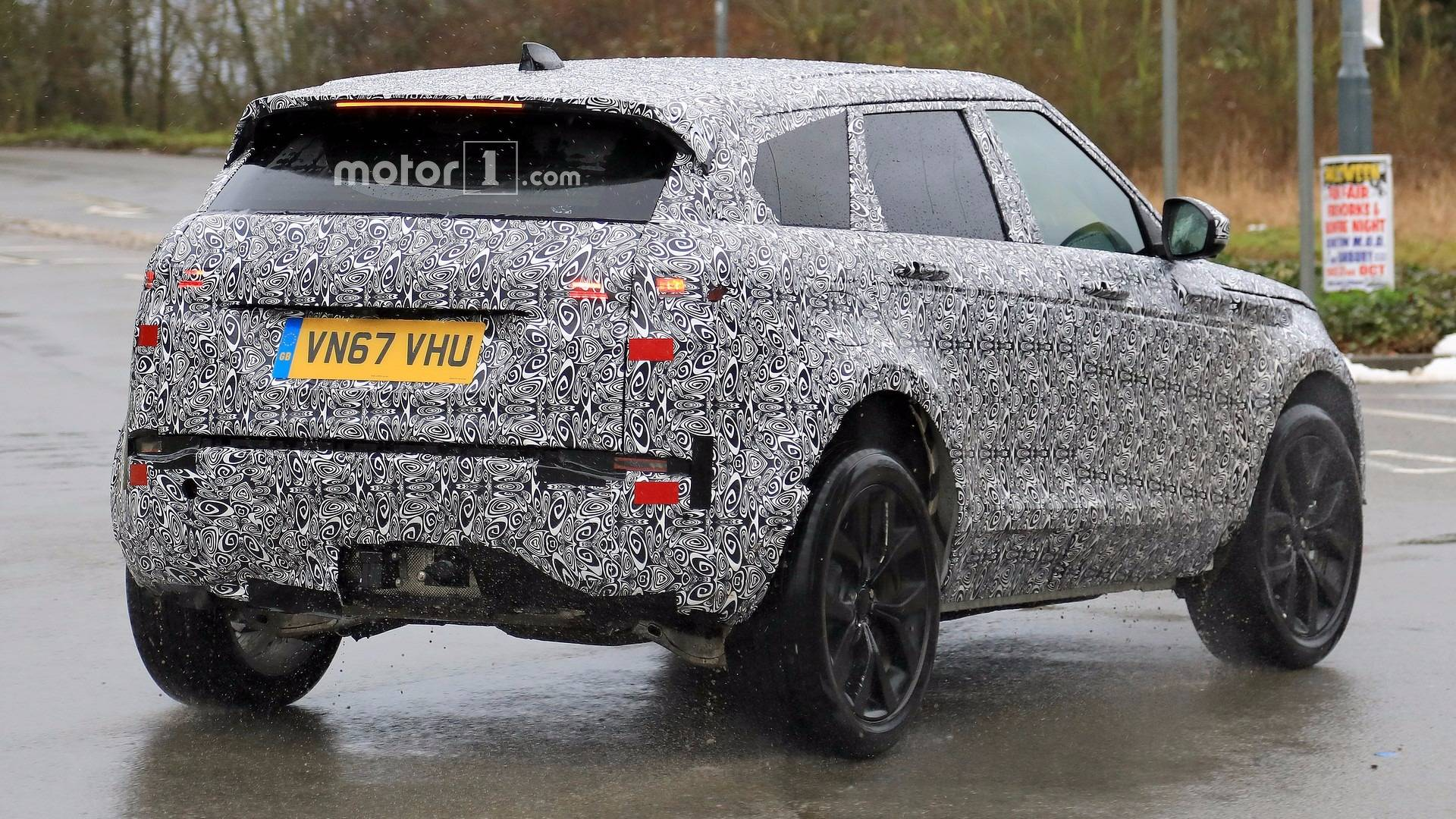 2019 Range Rover Evoque Spied Hiding Most Its Production Body