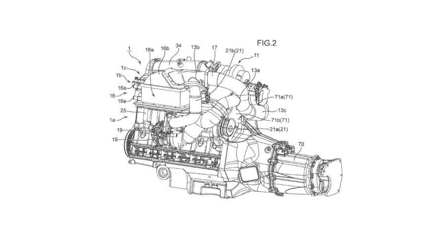 Mazda Patents Twin-Turbo Electric Supercharger Engine