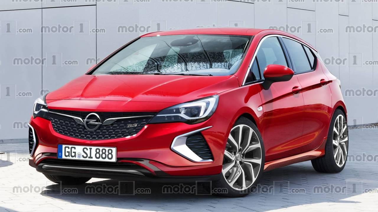 2018 Opel Astra Gsi Render  Motor1com Photos