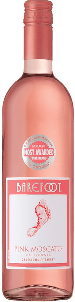 Barefoot Pink Moscato Label : barefoot, moscato, label, Barefoot, Moscato, Kelly's, Liquor