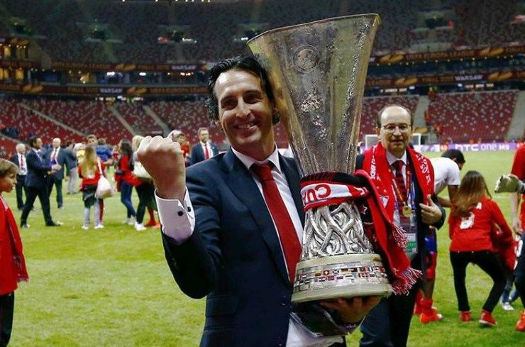 unai-emery-europa-league-sevilla 6 reasons why chelsea may lose to arsenal in tonights europa league final in baku 6 REASONS WHY CHELSEA MAY LOSE TO ARSENAL IN TONIGHTS EUROPA LEAGUE FINAL IN BAKU unai emery europa league sevilla