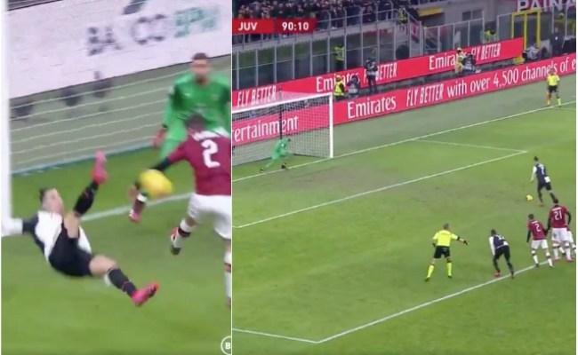 Video Ronaldo Scores Late Penalty For Juventus Vs Ac Milan