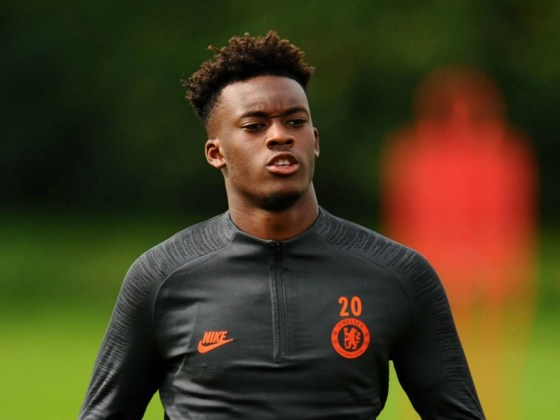 Chelsea's Hudson-Odoi In Training