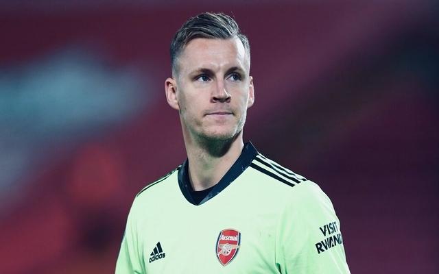 Bernd Leno stares away for Arsenal