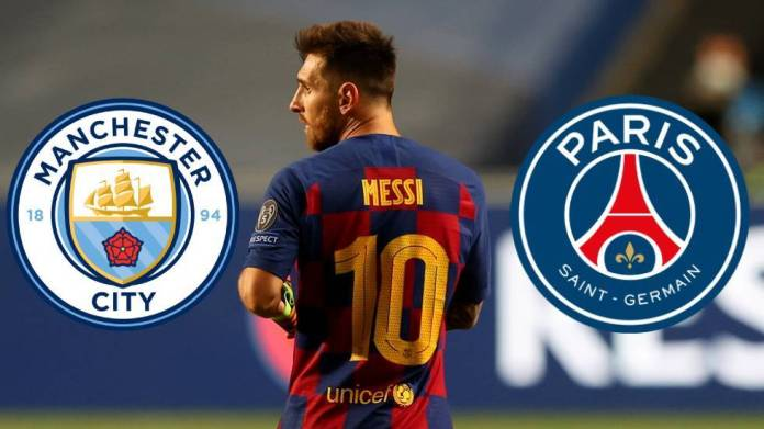 Man City favourites for Lionel Messi transfer