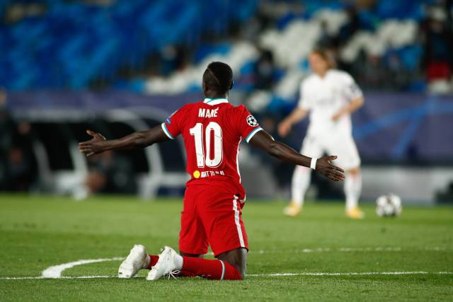Sadio Mane fouled for Liverpool against Real Madrid