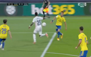 Benzema makes it 3-0 to Real Madrid before half-time Video Vinicius Junior flick sets up Real Madrid penalty for Benzema against Cadiz 320x200