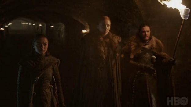 Game of Thrones: Nouveau teaser - Saison 8 - Les cryptes de Winterfell