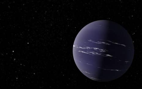 This Neptune-like planet has a thick atmosphere and maybe even a tail