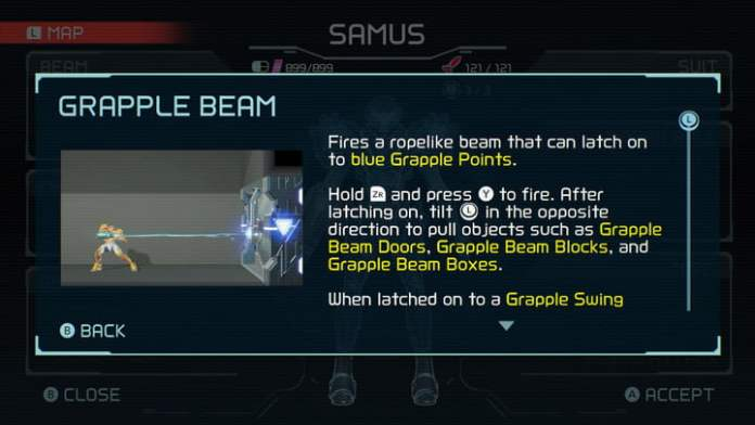 Grapple Beam from Metroid Dread.