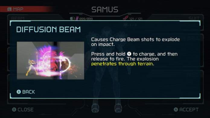 Diffusion Beam from Metroid Dread.