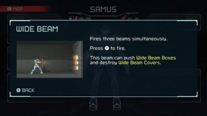 Wide Beam from Metroid Dread.
