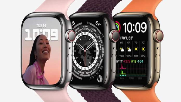 Apple Watch Series 7 colors and screen.