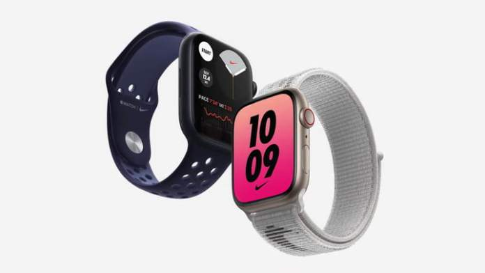 Nike Edition of Apple Watch Series 7.
