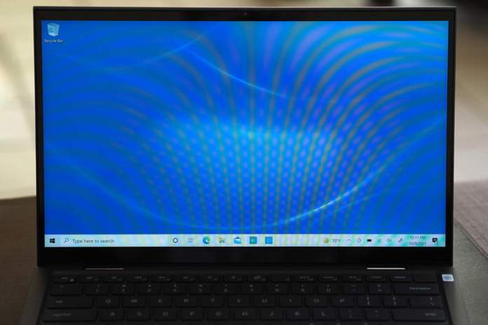 Closeup image of the Dell Inspiron 14 2-in-1's display