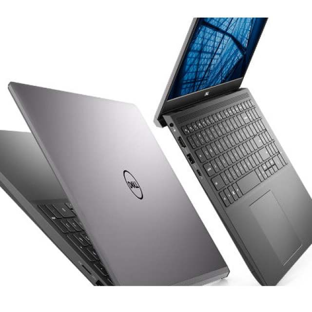 Dell Vostro 7500 laptop, one with screen open to show keyboard and one with screen closed, on a white background.