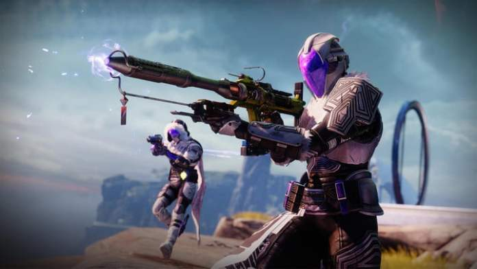 Shooting characters in Destiny 2.