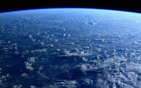 This gorgeous Earth image shot from the space station shows only water