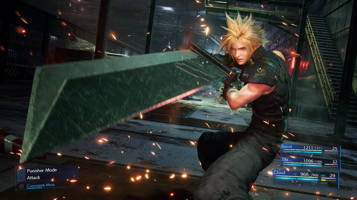 Cloud from Final Fantasy VII Remake.
